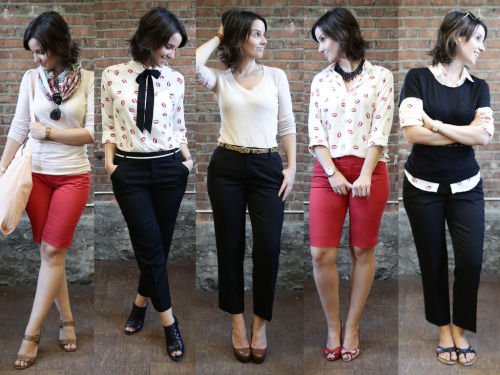 5 vêtements de base, 5 looks différents!