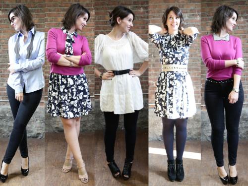5 vêtements de base. 5 looks complètement différents!