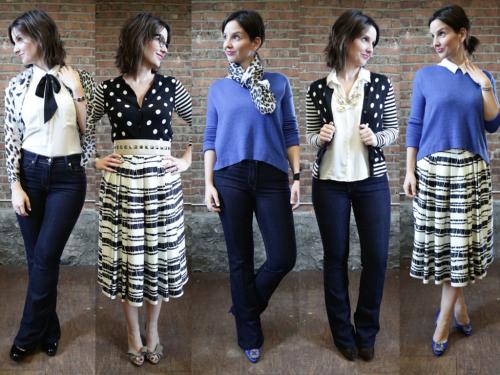 5 vêtements ont permis de créer 5 looks complètement différents.