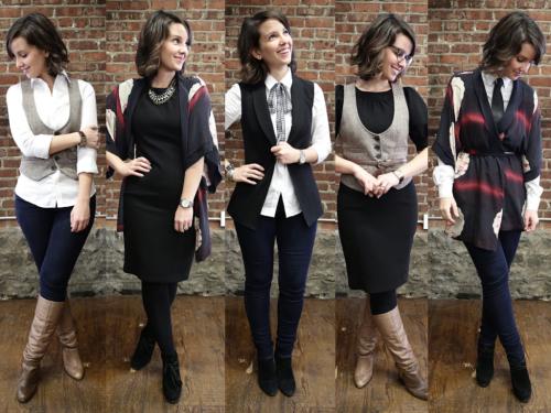 6 vêtements de base: 5 looks complètement différents.